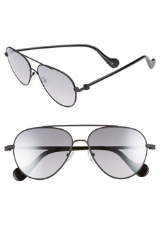 Moncler 57mm Aviator Sunglasses