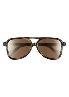 Moncler 58mm Aviator Sunglasses