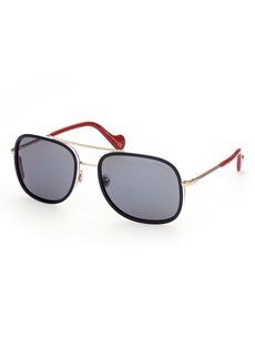 Moncler 61mm Aviator Sunglasses