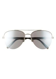 Moncler 62mm Aviator Sunglasses