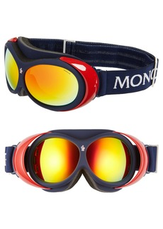 Moncler 89mm Mirrored Snow Goggles