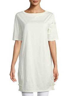 Moncler Abito Corto Half-Sleeve Mini Dress