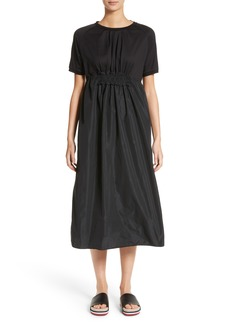Moncler Abito Shirred Midi Dress
