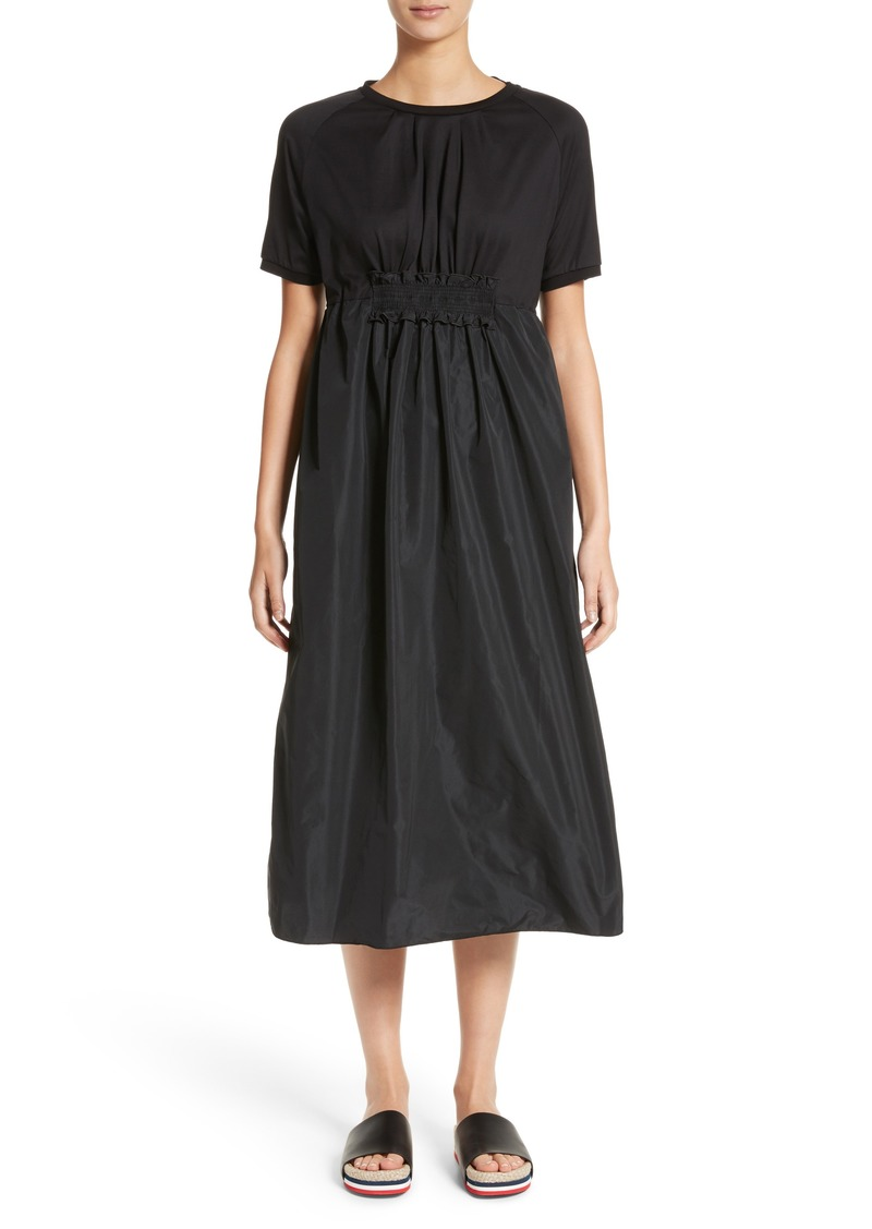 463547f4351a Moncler Moncler Abito Shirred Midi Dress
