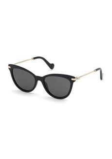 506382ed01107 Moncler Acetate   Metal Cat-Eye Sunglasses