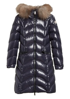 Moncler Albizia Down Puffer Coat with Genuine Fox Fur Trim