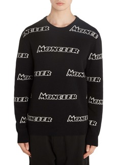 Moncler Allover Logo Wool & Cashmere Sweater