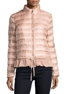 Moncler Anemone Flounce Puffer Jacket