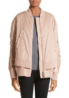 Moncler Aralia Layered Bomber Jacket