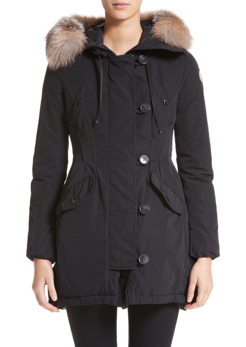 2c09af573 'Arriette' Down Insulated Parka with Genuine Fox Fur Ruff