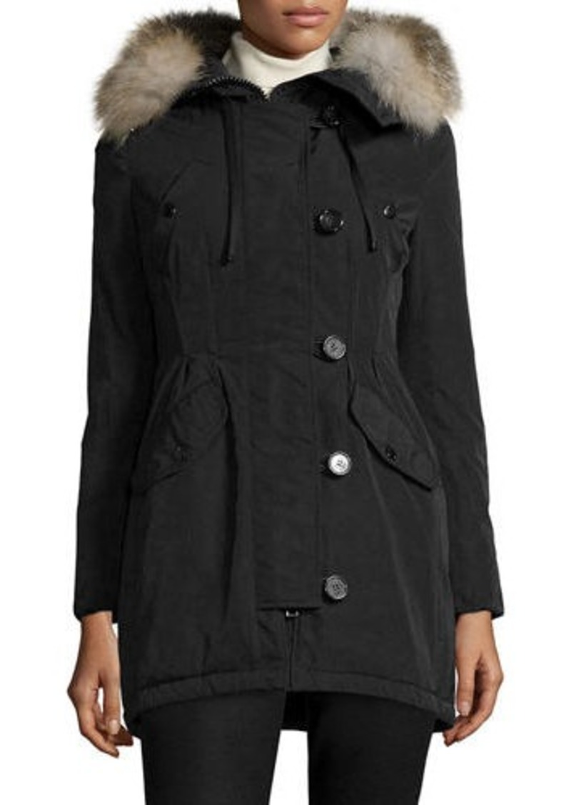 743bee9c0 Arriette Fur-Trim Puffer Coat