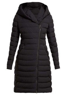 865712878 Moncler Barge asymmetric-zip quilted down-filled coat