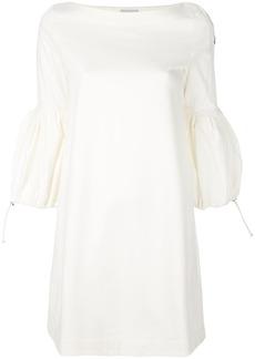 Moncler bell sleeve dress - White