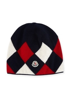 Moncler Berretto Argyle Beanie Hat