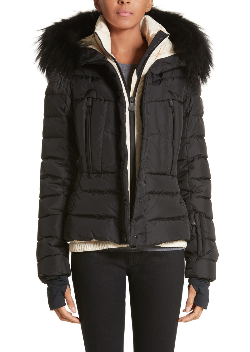 d4fd015d4 Moncler Moncler Beverley Quilted Down Jacket with Removable Genuine ...