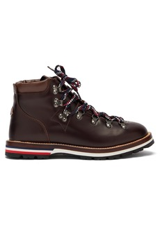 Moncler Blanche lace-up leather mountain boots