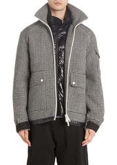 Moncler Blin Check Wool Down Jacket