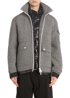 Moncler Blin Check Wool Down Jacket