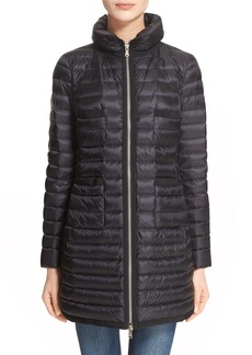 Moncler Bogue Water Resistant Long Down Jacket