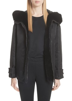 Moncler Bondree Genuine Mink Fur Trim Down Jacket