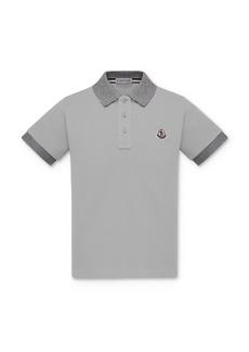 Moncler Boys' Two-Tone Polo Shirt - Big Kid