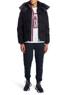Moncler Brazeau Hooded Down Flannel Jacket