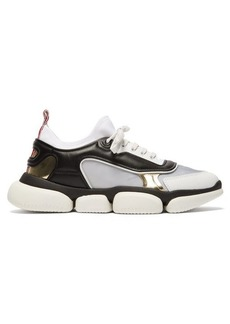 Moncler Briseis metallic and mesh low-top trainers