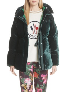 Moncler Butor Hooded Velvet Down Coat