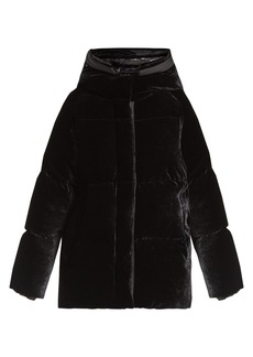 Moncler Butor velvet down-filled jacket