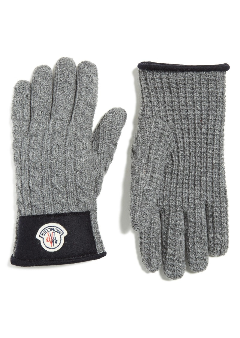 ed61159b7 Moncler Moncler Cable Knit Wool   Cashmere Gloves