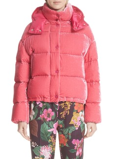 Moncler Caille Velvet Quilted Down Jacket