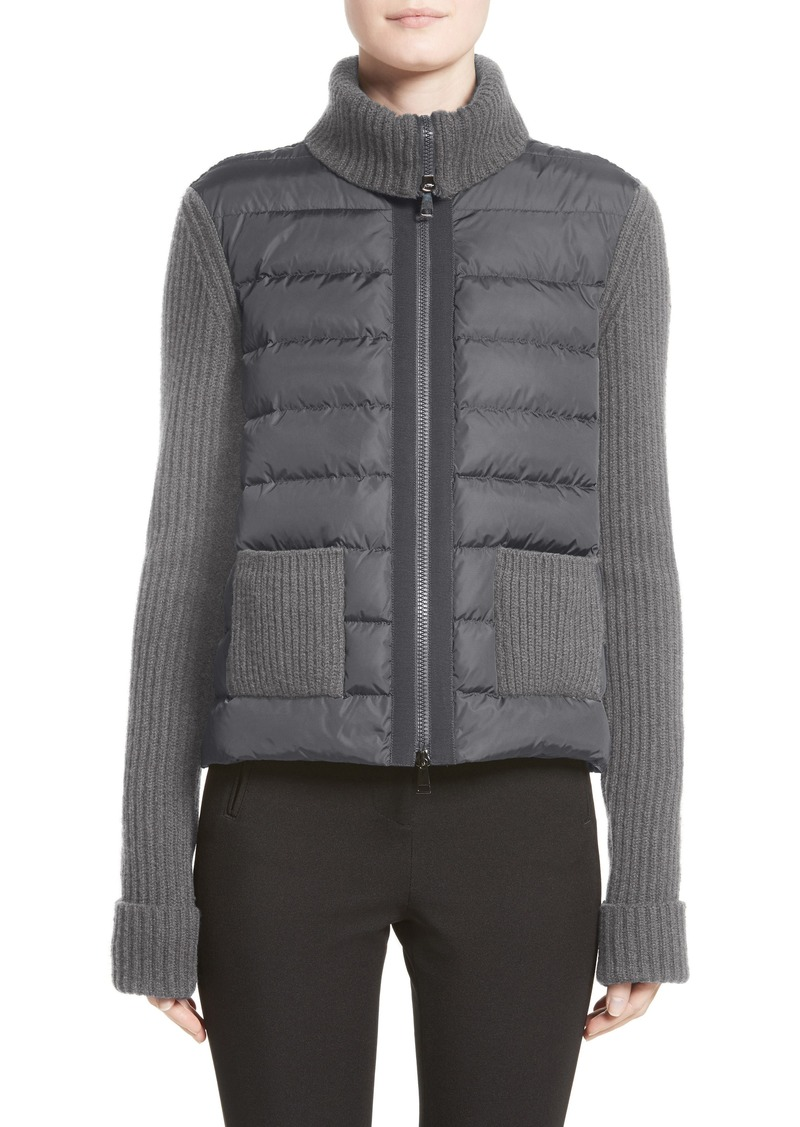 f4f713908 Moncler Moncler Ciclista Quilted Down Front Sweater Jacket