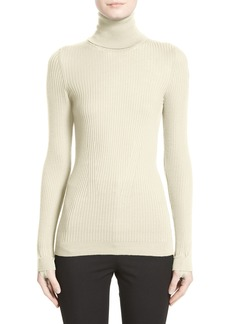 Moncler Ciclista Tricot Wool Turtleneck Sweater