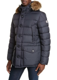 97bc39c81 Moncler Cluny Down Parka with Genuine Fur Trim Hood