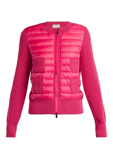 Moncler Wool and quilted shell jacket