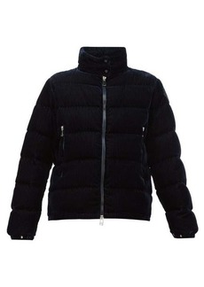 Moncler Copenhague velvet-corduroy down-filled jacket
