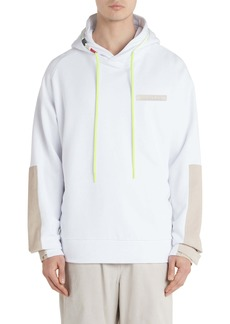 Moncler Corduroy Patch Pullover Hoodie