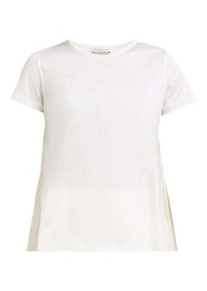 Moncler Cotton-jersey and shell T-shirt