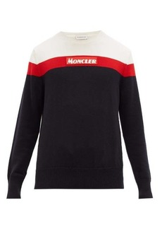 Moncler Crew-neck colour-block wool sweater