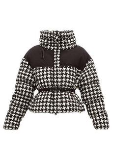 498efbd30 Moncler Cropped houndstooth down jacket