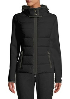 Moncler Down-Filled & Knit Combo Jacket