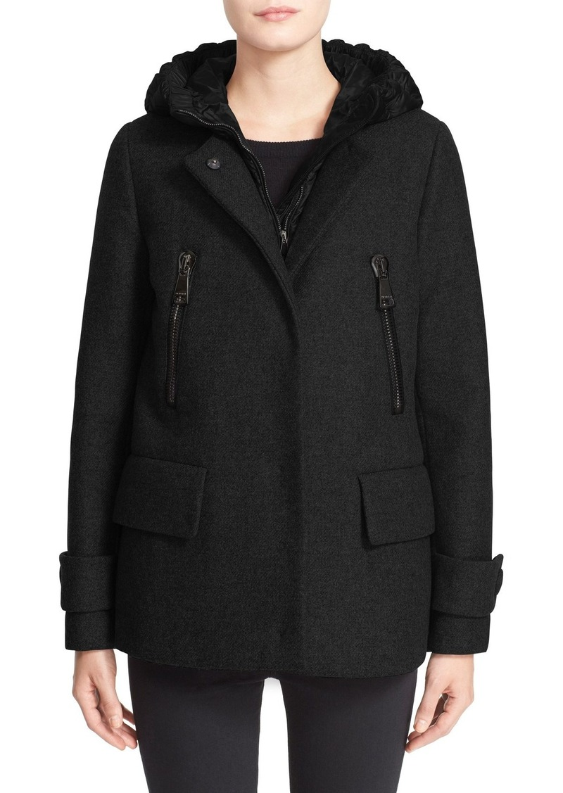 e5b1626b1 Moncler Moncler  Euphemia  Wool Blend Jacket with Removable Hooded ...