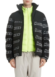 Moncler Faiveley Logo Down Puffer Jacket