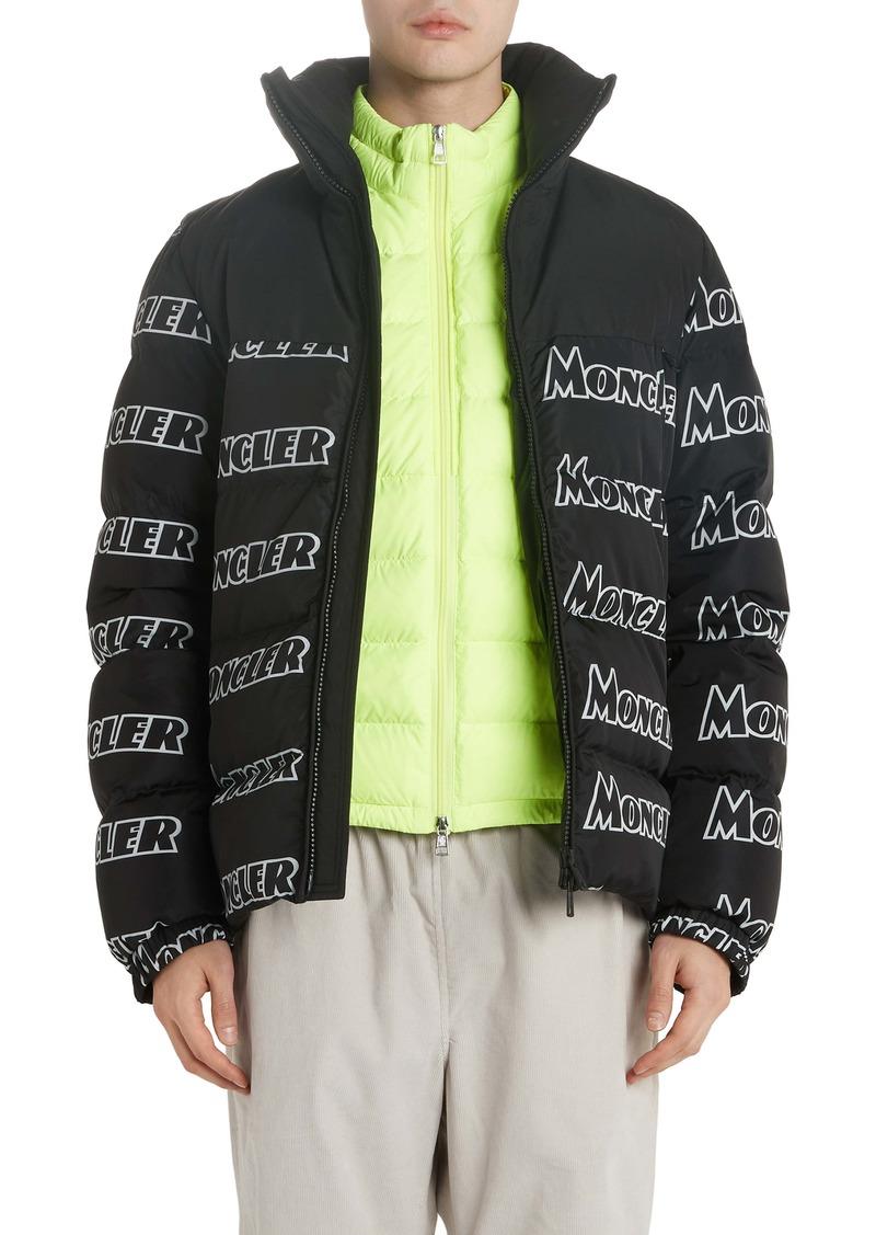 Moncler Faiveley Logo Down Puffer Jacket