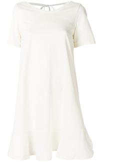 Moncler flared mini dress - White