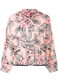 Moncler floral printed bomber jacket - Pink & Purple
