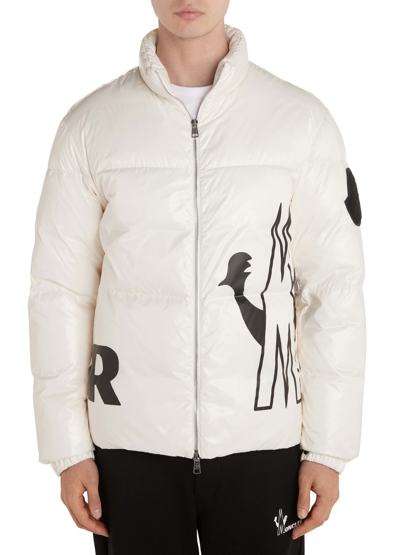 Moncler Friesian Logo Down Puffer Jacket