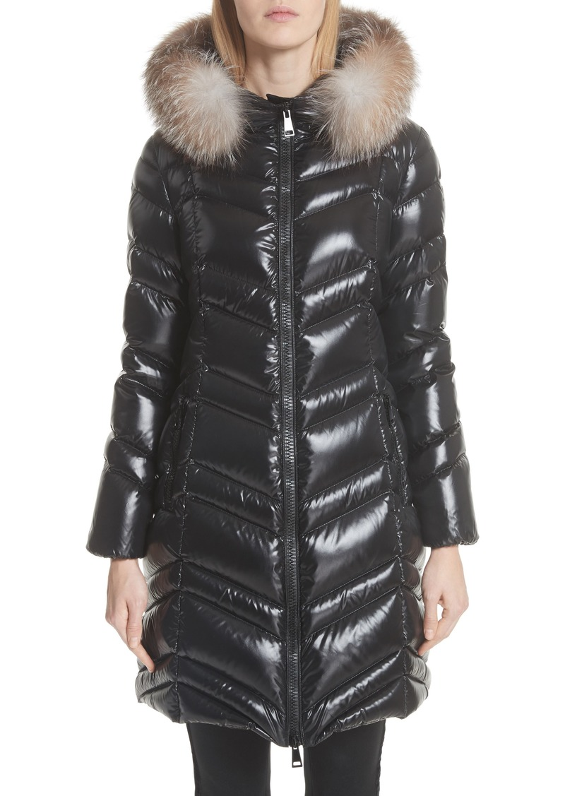 c2d041ba2b30 Moncler Fulmar Hooded Down Puffer Coat with Removable Genuine Fox Fur Trim