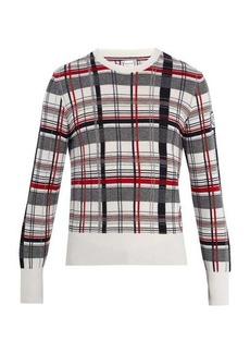 Moncler Gamme Bleu Checked cashmere sweater