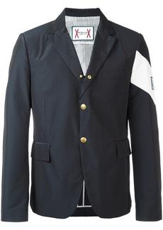 Moncler contrast diagonal stripe blazer